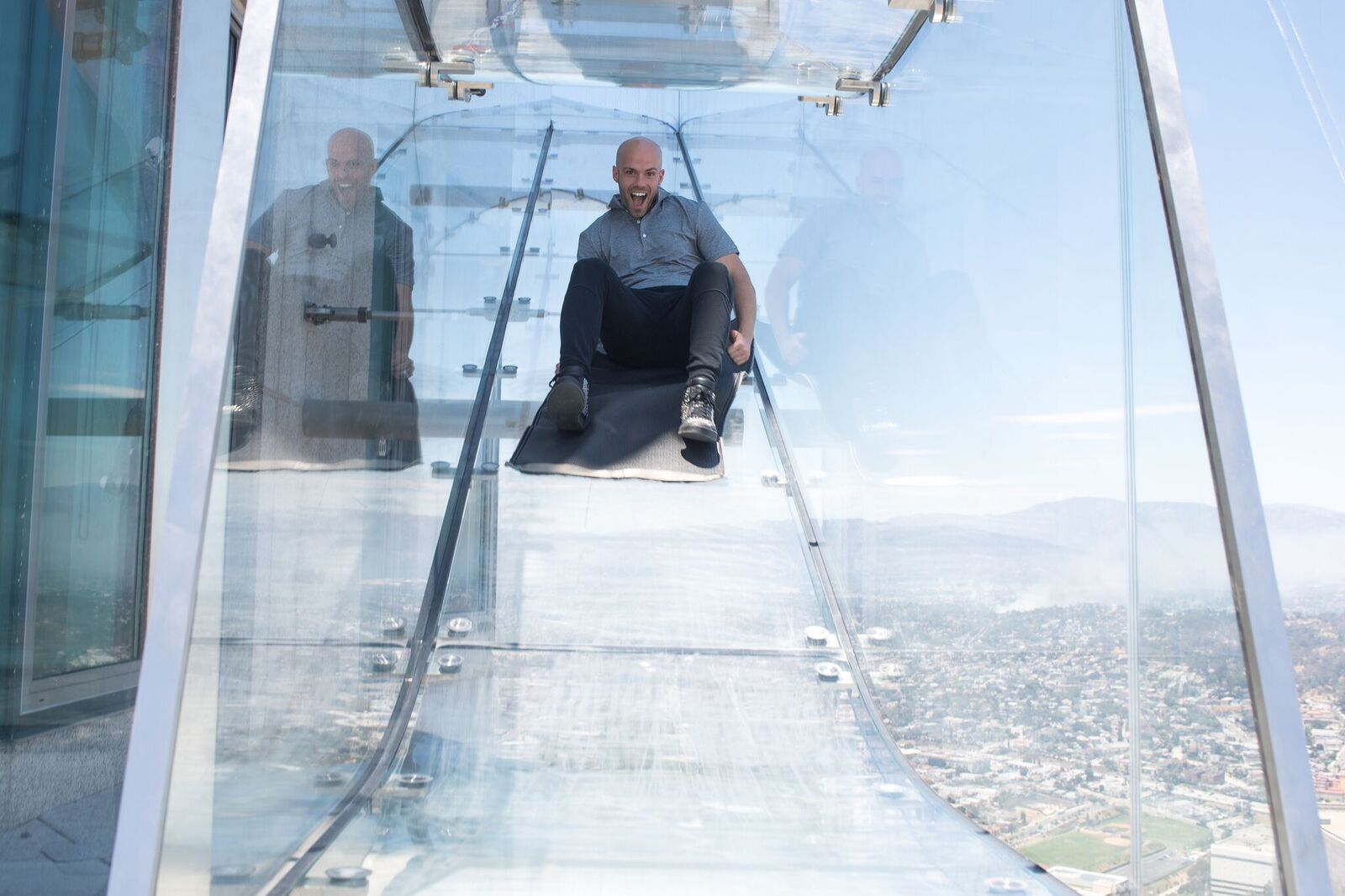 USA California Los Angeles Skyslide